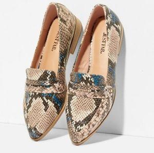 Snakeskin Print Loafer